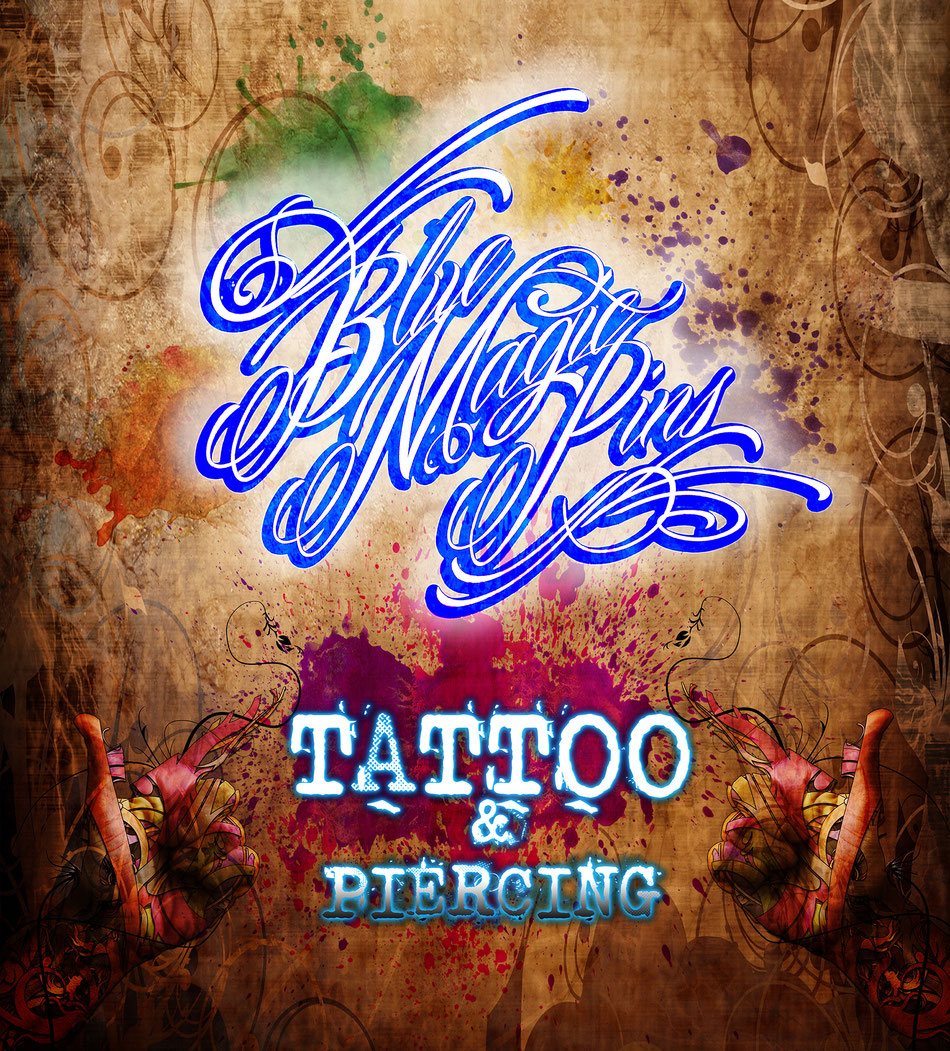 Blue Magic Pins tattoo shop Belgium custom design