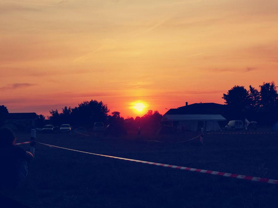 Der Sonnenuntergang am Samstag