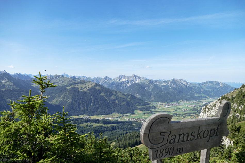 Der Gamskopf liegt direkt hinter der Bergstation Füssener Jöchele