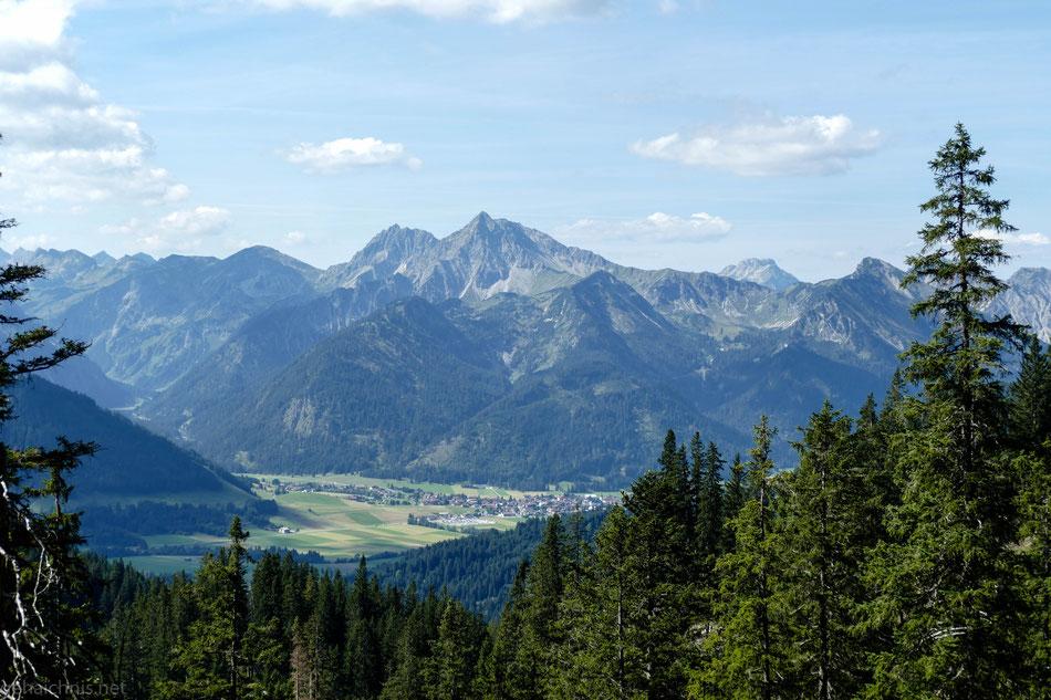 Wieder eine andere Perspektive auf Tannheim.....