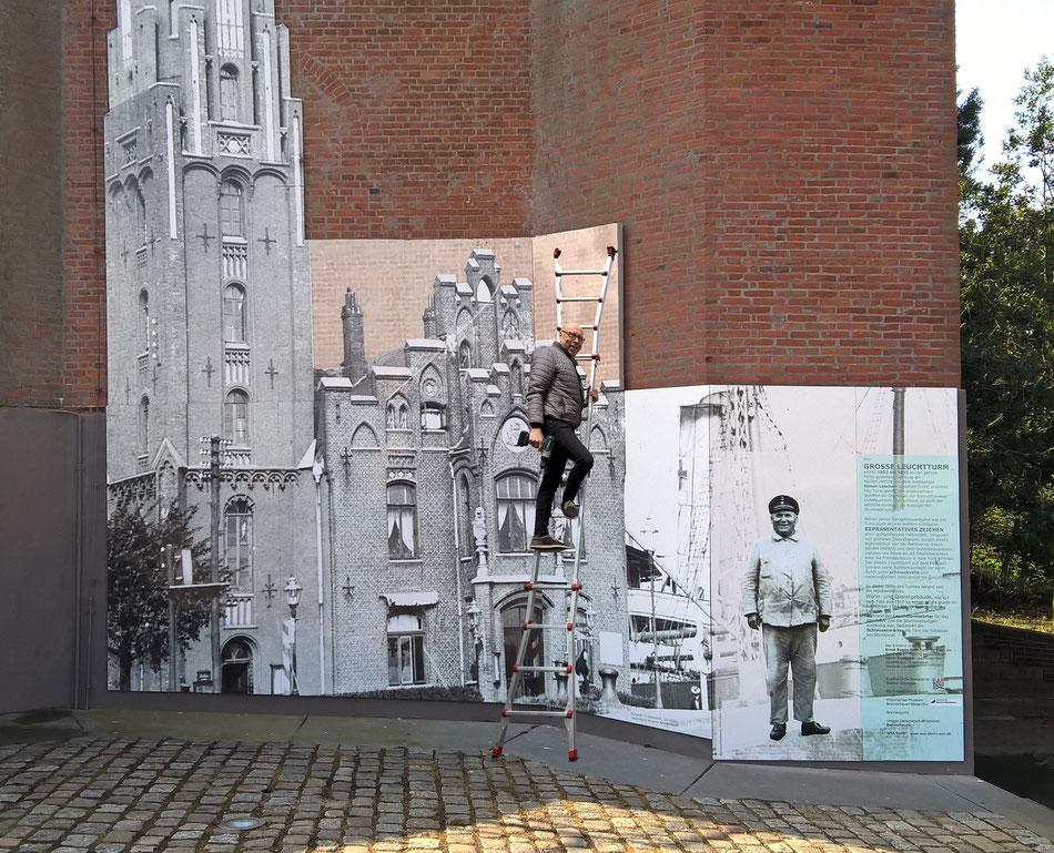 Urban Intervention, Kunst am Bau, Geschichte anschaulich machen. Werner Krömeke Oktober 2017