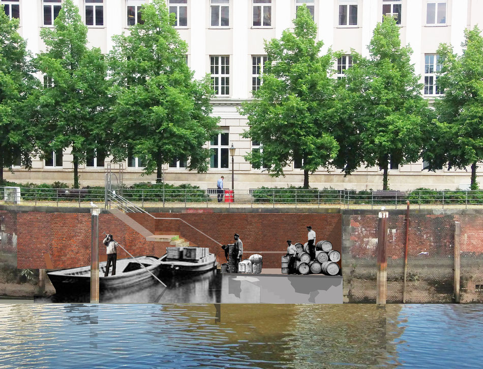Hafengeschichte im Nikolai Quartier sichtbar machen.