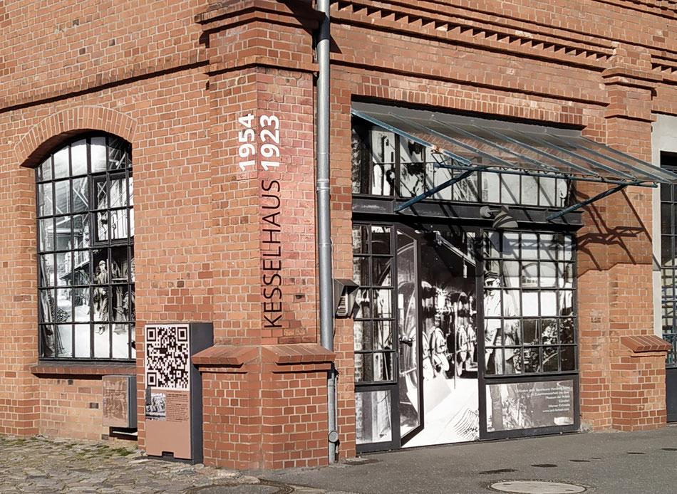 Über den QR Code zu mehr Infos über die Geschichte des Kesselhauses in Hamburg