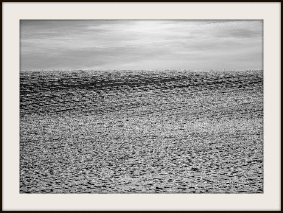 #020 - Sea Of Snow (2017-01-27) - Fine Art Print auf Shil Masterclass Baryta 290, archivfest, naturweiß, gepuffert, schwarzer Galerierahmen mit Passepartout