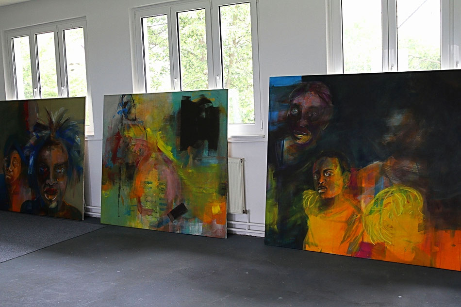 Offenes Atelier 2016: Bilder hängen