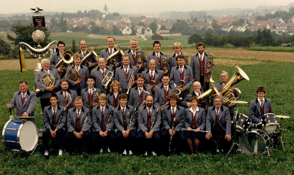 Gruppenbild Musikverein Schwaikheim 1989