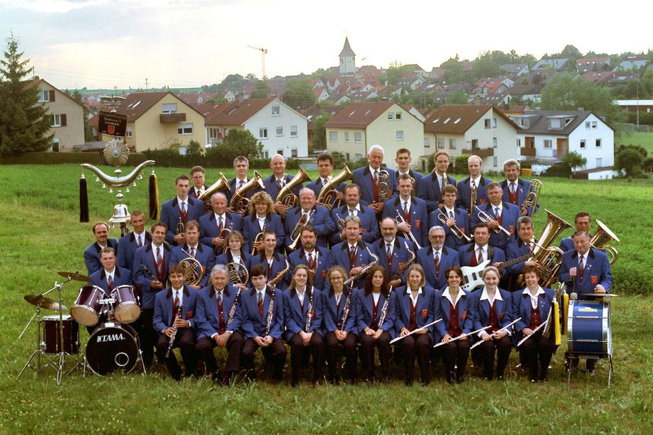 Gruppenbild Musikverein Schwaikheim 2000
