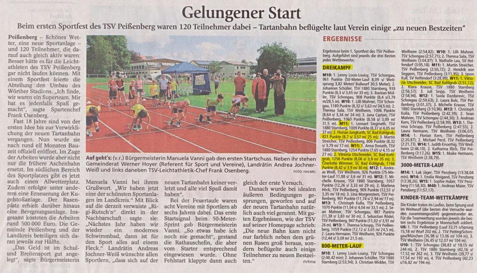 Weilheimer Tagblatt 26.07.2016