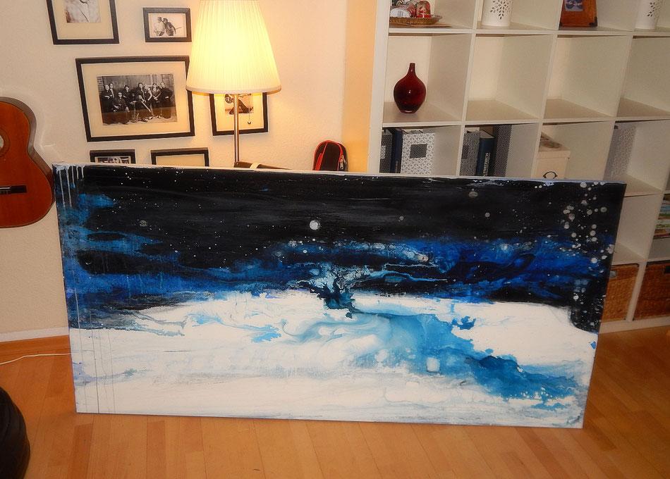 blaues bild abstrakt groß