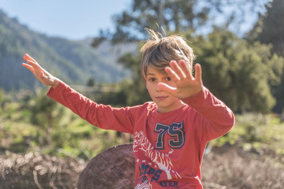 Sesión de niños en Aguamansa, Tenerife