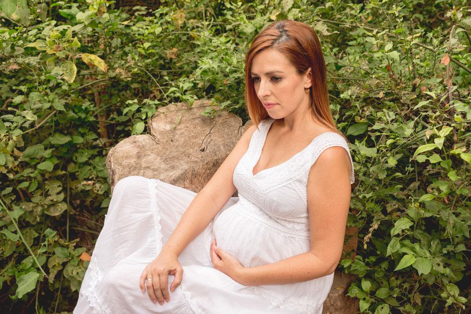 Sesión de embarazo con perro, Rambla de Castro, Tenerife