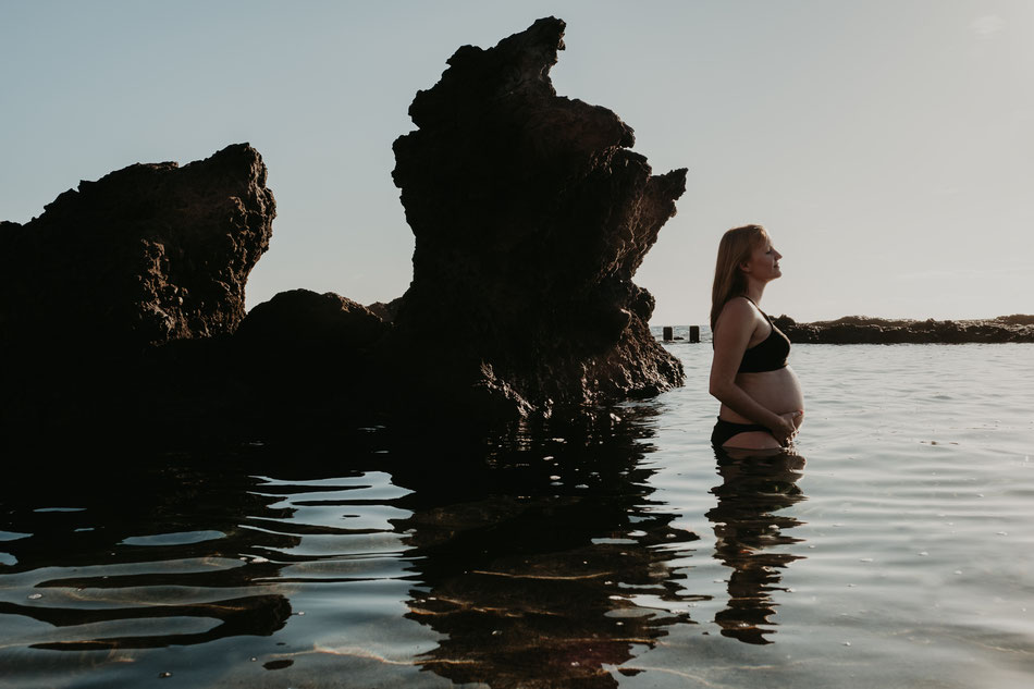 sesión de embarazo en Tenerife, sesión de embarazo en la playa, sesión de embarazada en Tenerife