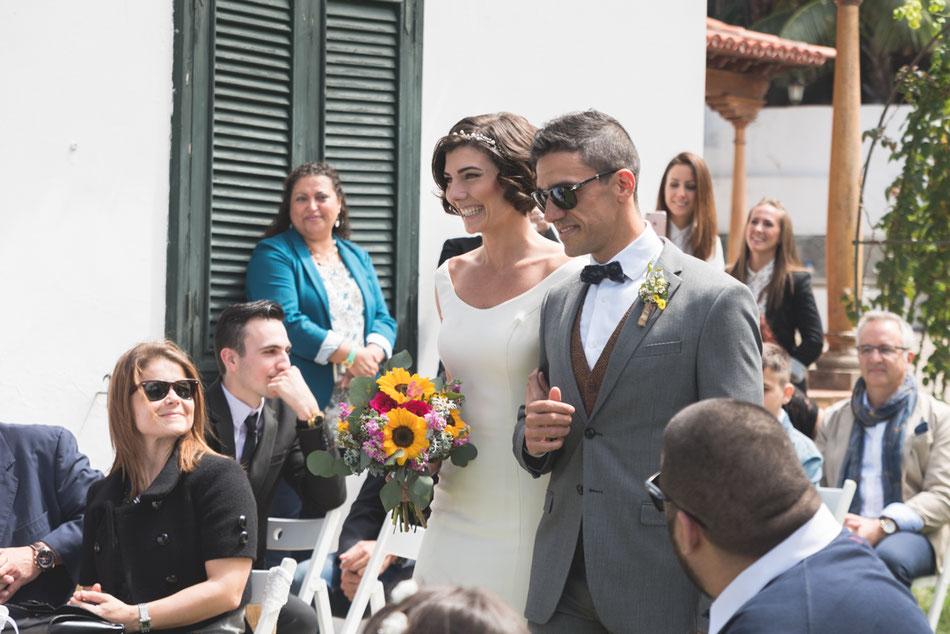 Entrada de la novia. Boda en Tenerife