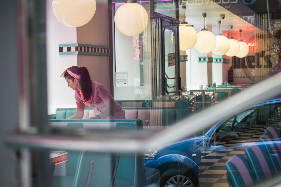 Mel´s Burger en Calle Hortaleza en Madrid.
