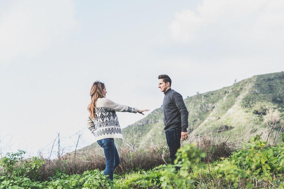 Fotografía de pareja en el campo, en Tenerife