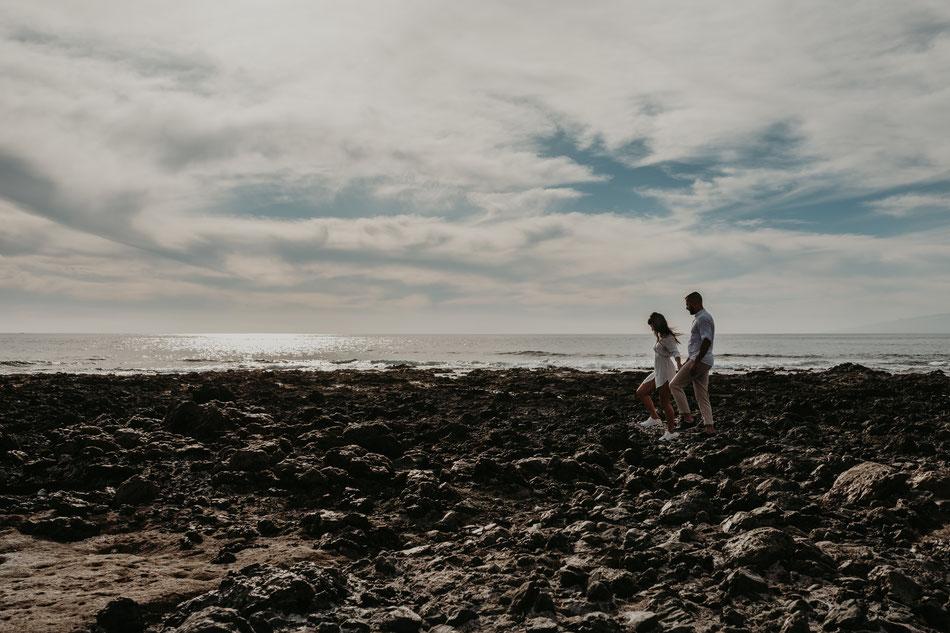 fotografía de pareja en la playa, fotografia de pareja en Tenerife