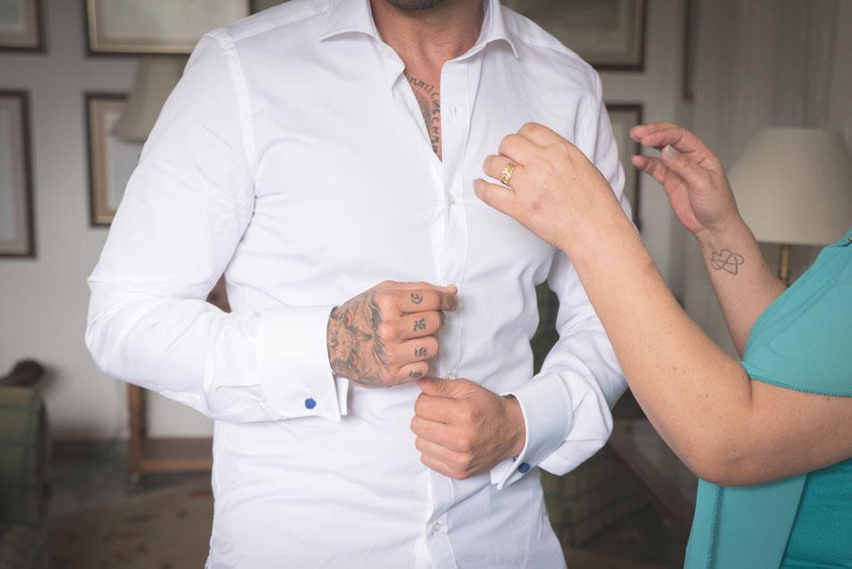 Preparación del novio. Boda en Tenerife