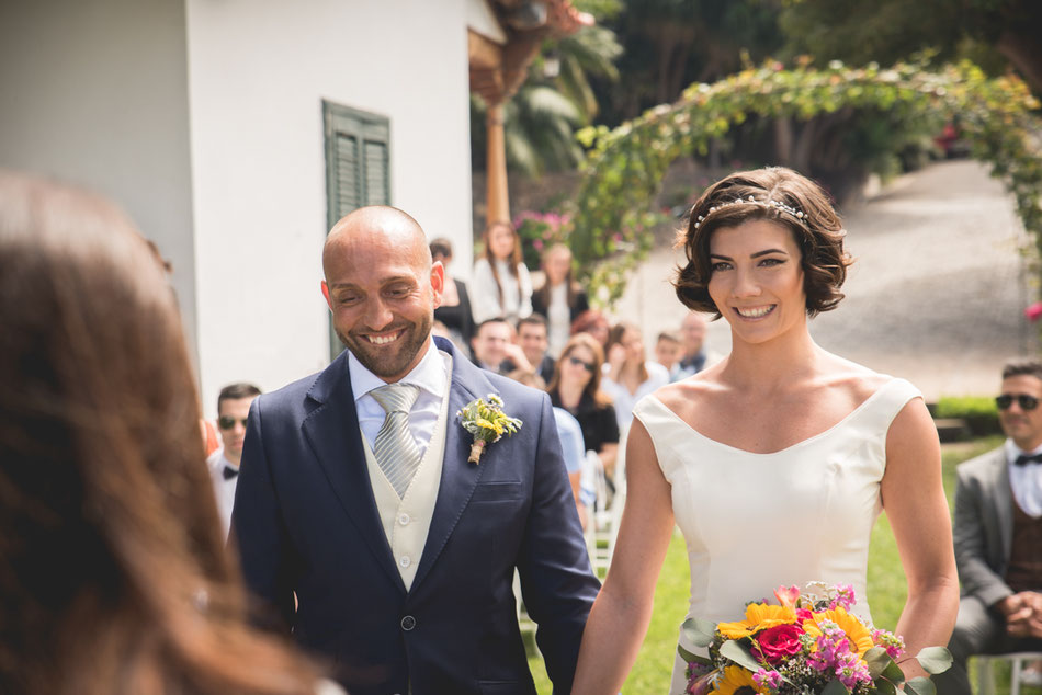 Ceremonia civil. Boda en Tenerife