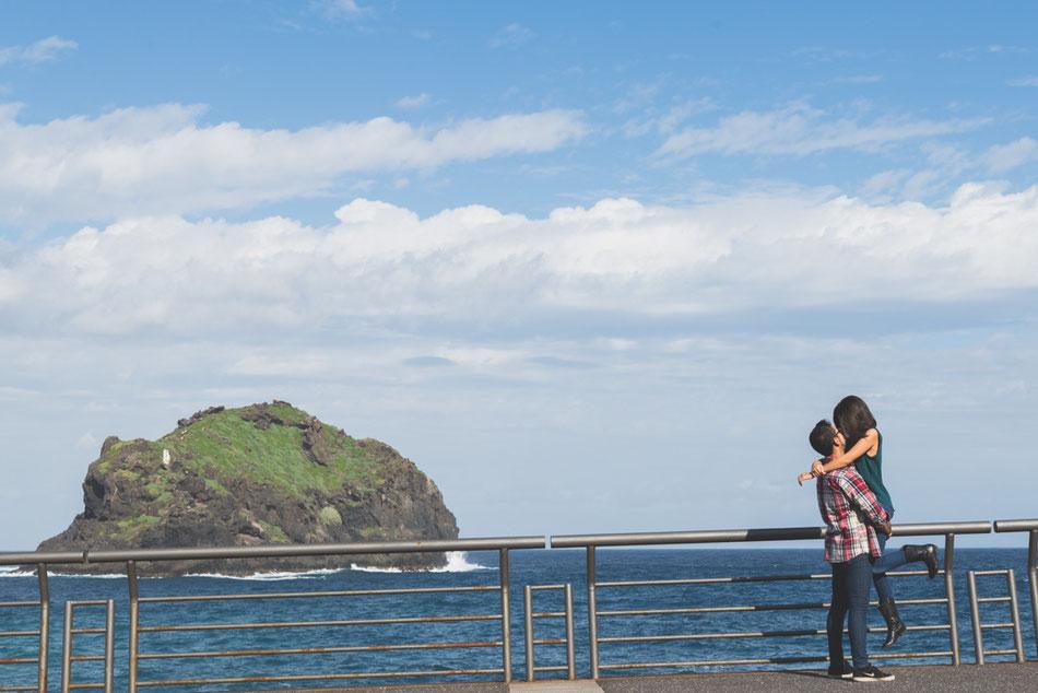 Fotografía de pareja en Garachico, Tenerife