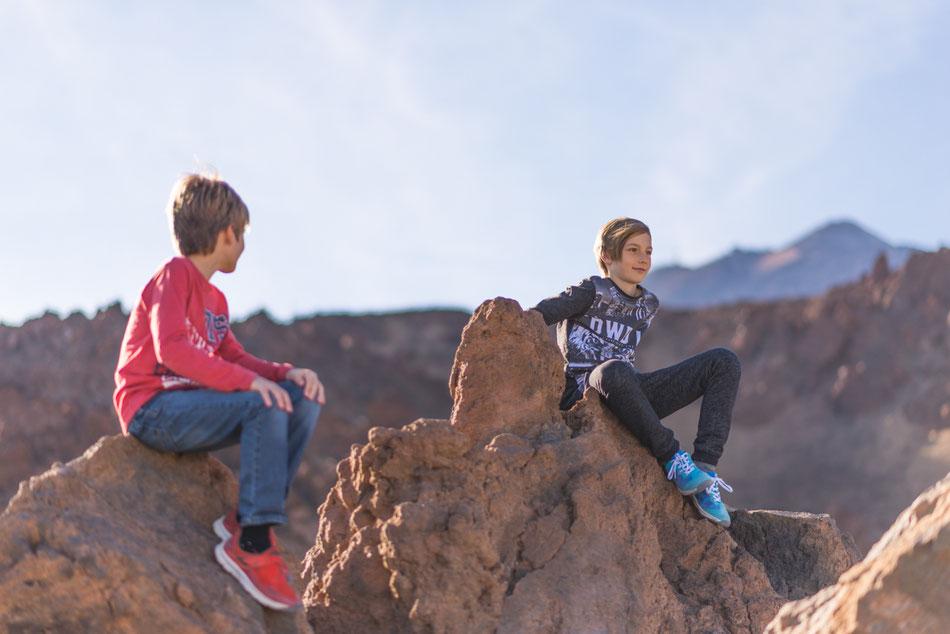 Sesión de niños en Las Cañadas del Teide, Tenerife