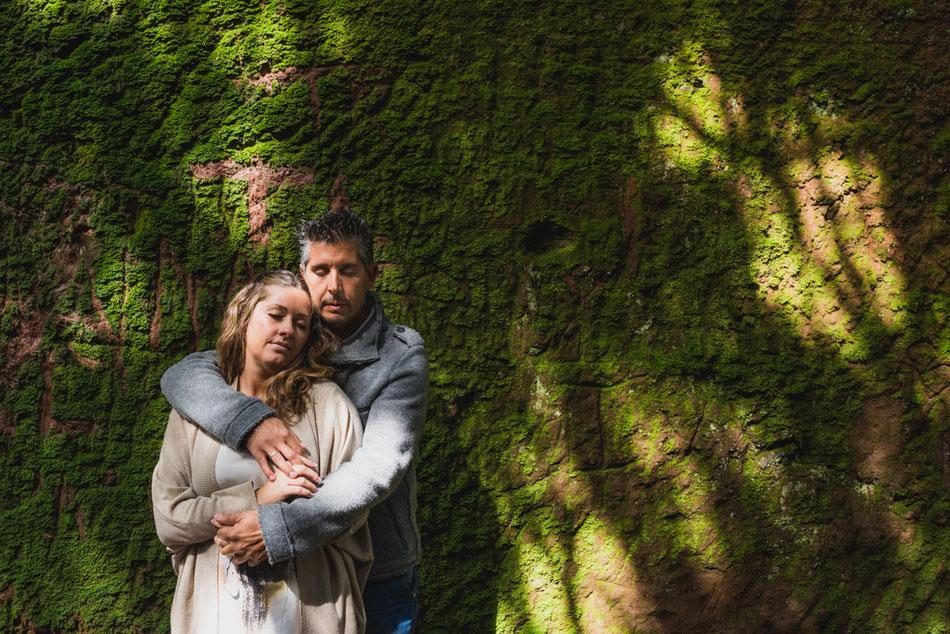 Fotografía de pareja en el Monte de Las Mercedes, Tenerife