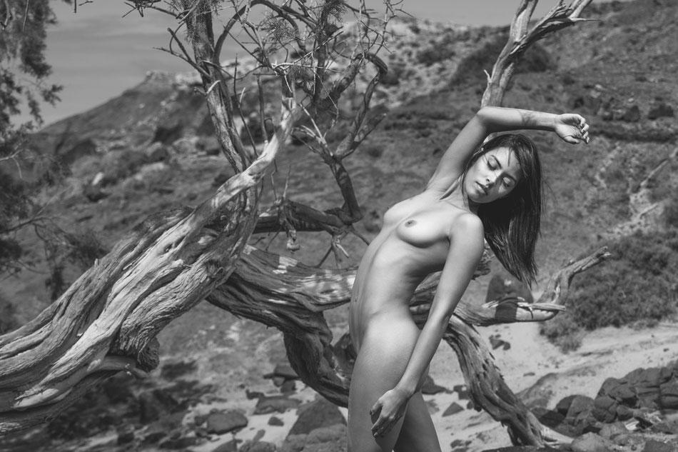 fotografía de desnudo en la naturaleza