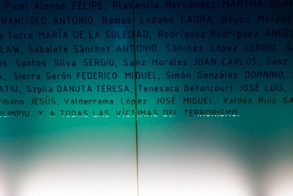 Monumento a las víctimas del 11M, Estación de Atocha, Madrid.