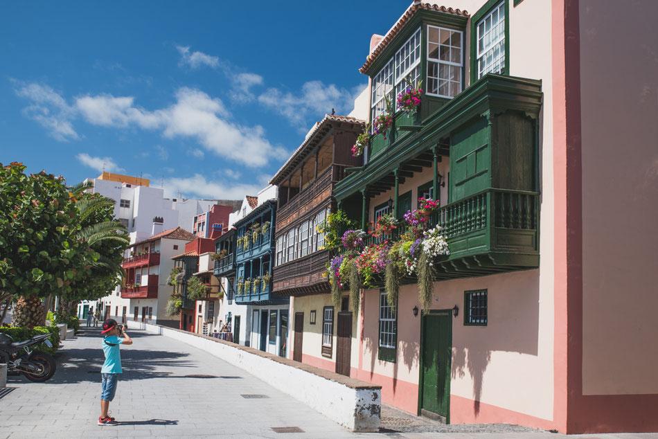 Balcones típicos en Santa Cruz de La Palma