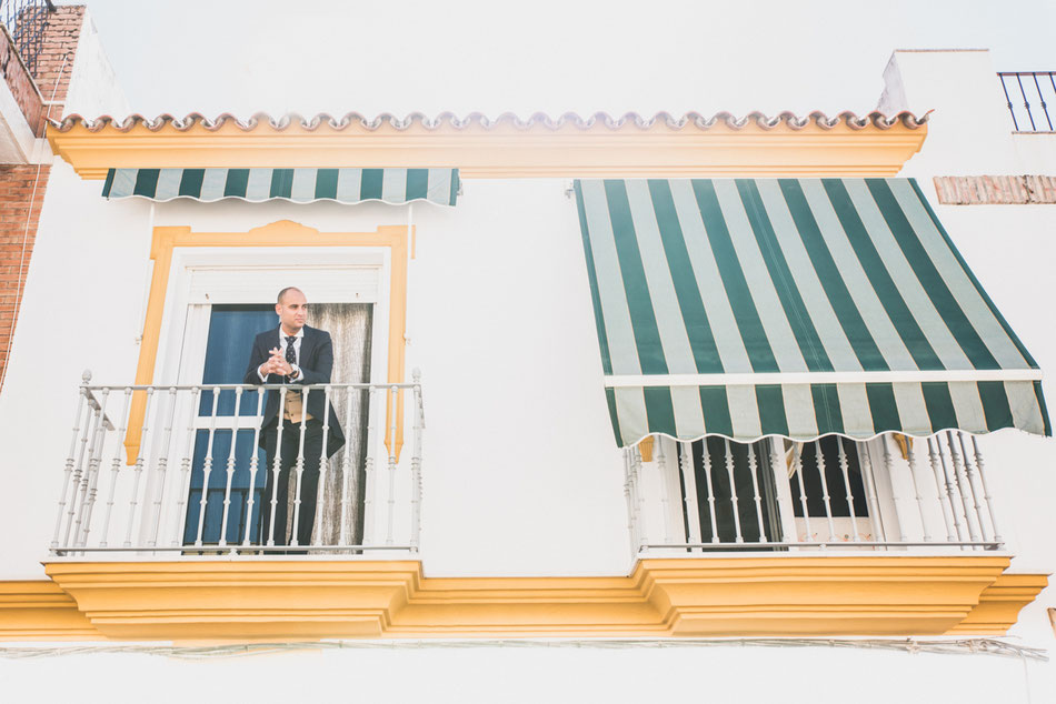 Preparativos novio, boda en Sevilla