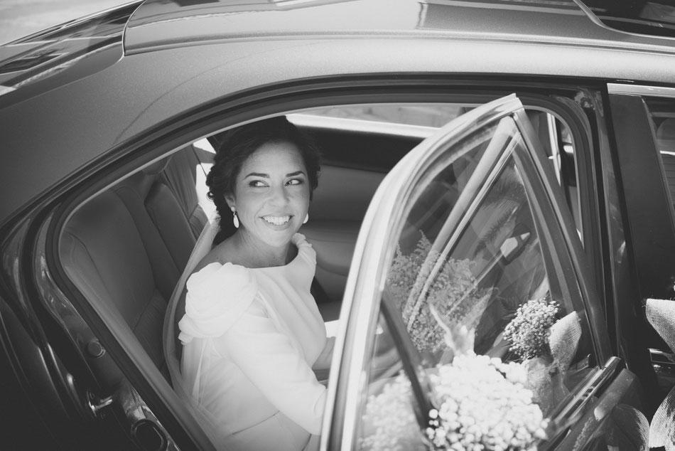 Llegada de la novia, boda en Sevilla
