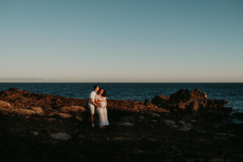 sesión de embarazo en Tenerife, fotógrafo de embarazo Tenerife