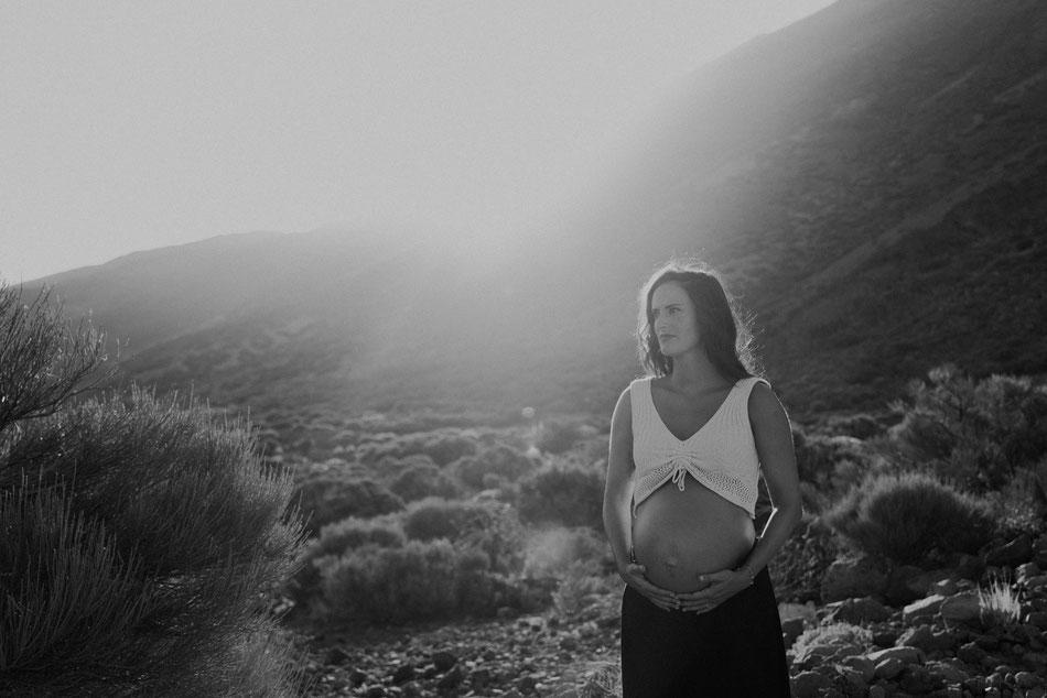 Sesión de embarazo en el Teide