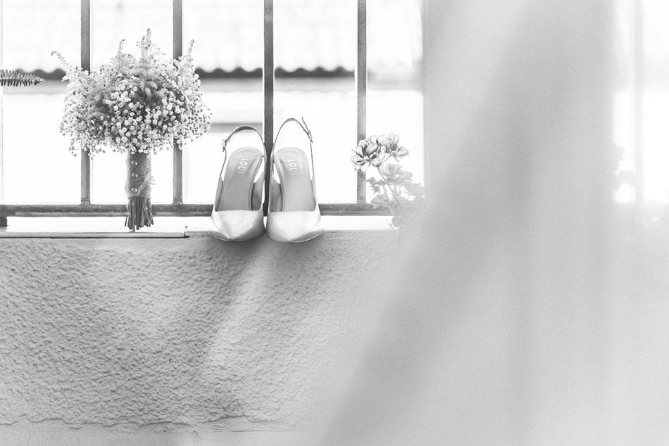 Zapatos de novia. Boda en Sevilla