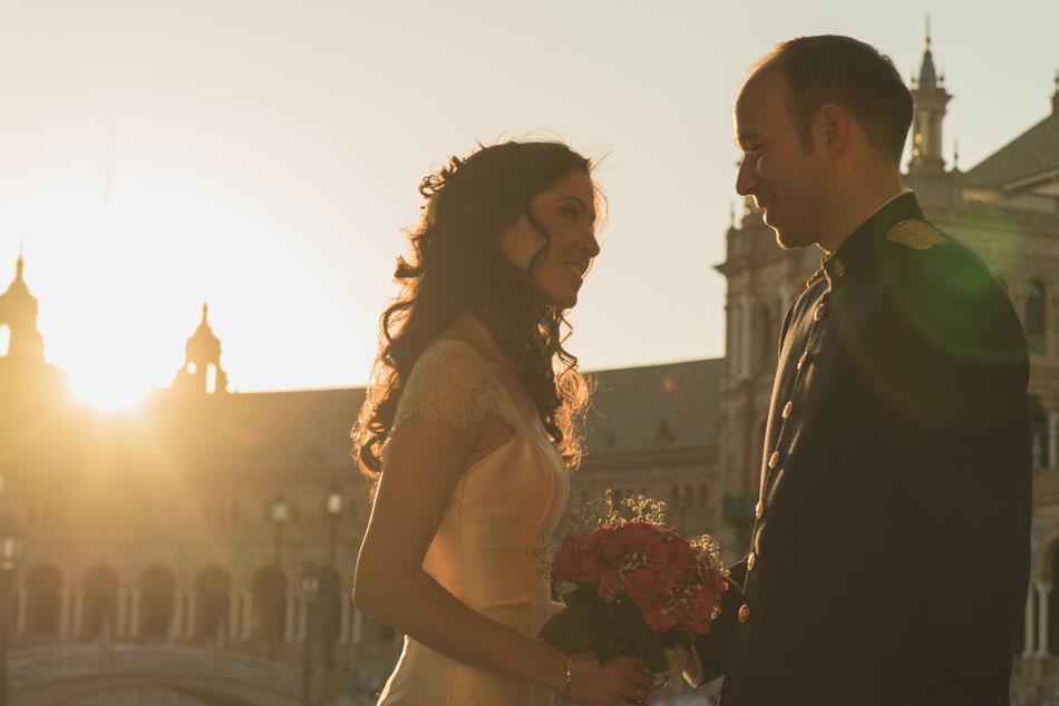 Fotografía de bodas en Tenerife, boda en Sevilla, fotos recién casados