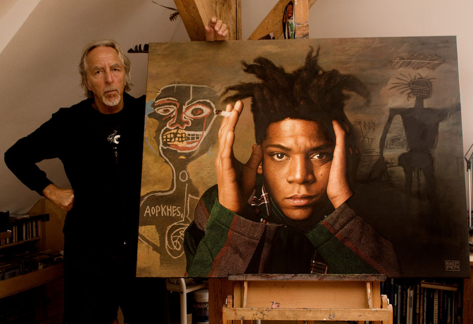 painting of jean-michel basquiat