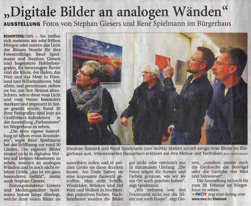 Nordwest-Zeitung NWZ, Jeverland-Bote, 3. Februar 2016