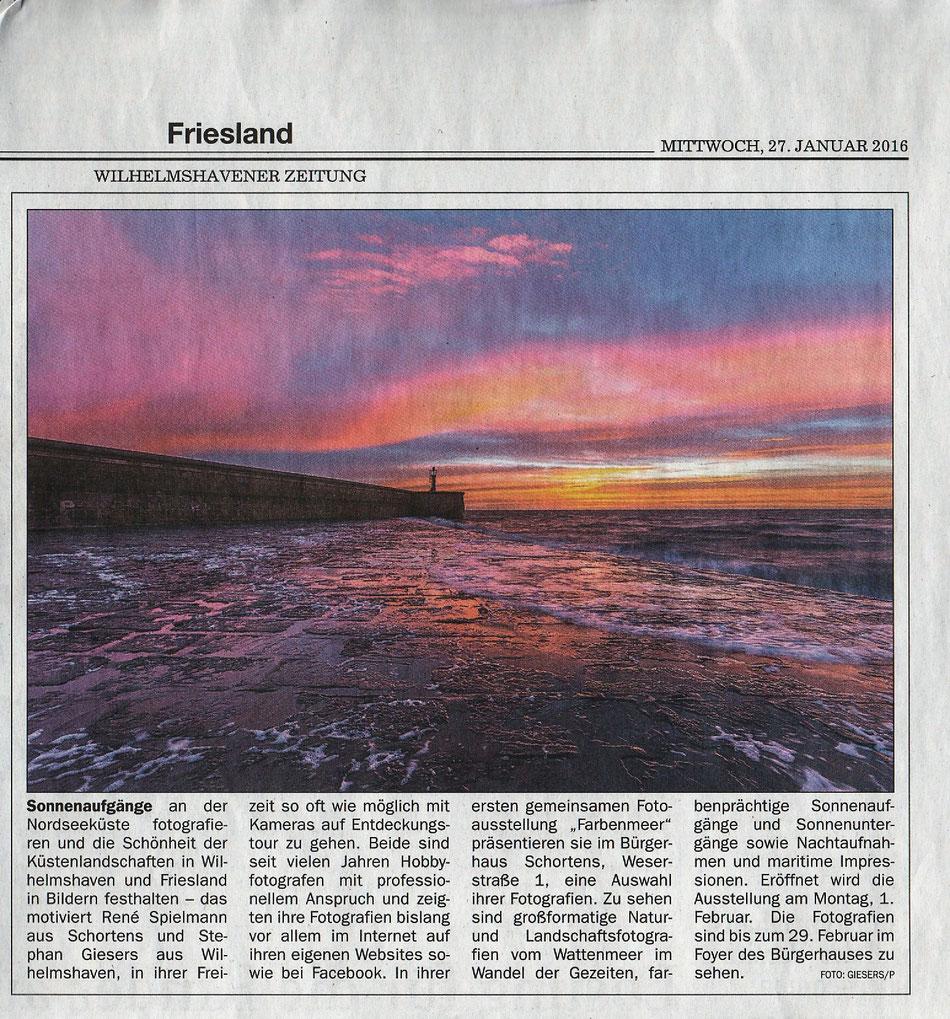 Wilhelmshavener Zeitung, 27. Februar 2016