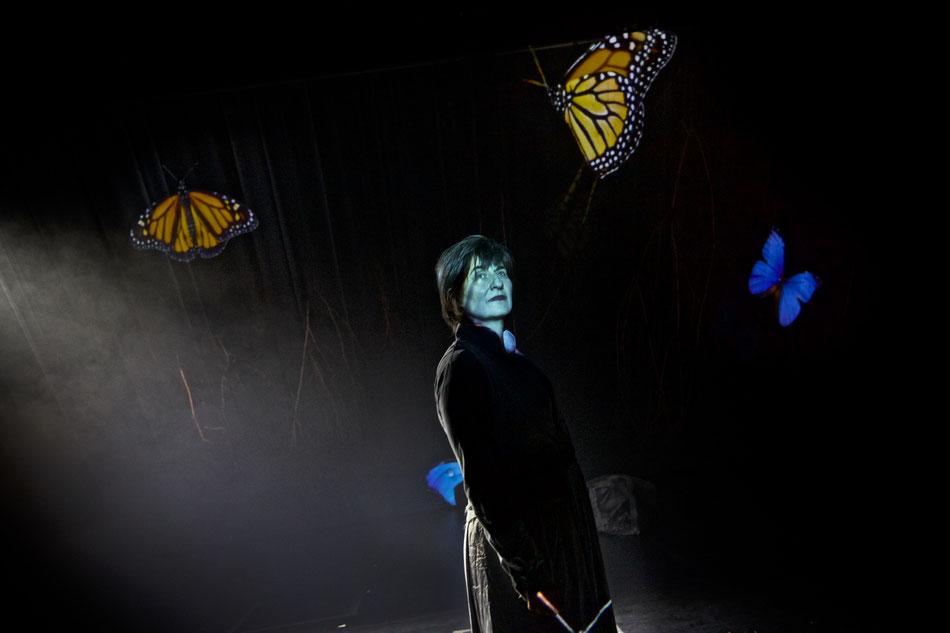 Micro Oper München   Inszenierte Musik & Installation frei nach Franz Schuberts Winterreise   Mit Cornelia Melián (Performance, Gesang, Stimme), Maciej Sledziecki (E- Gitarre), Marion Wörle (Elektronik), Philip Zoubek (Präpariertes Klavier)  | Videoinstal