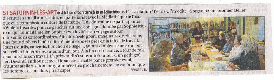 Article la Provence 25-01-2017  Encore un merveilleux moment de bonne humeur !