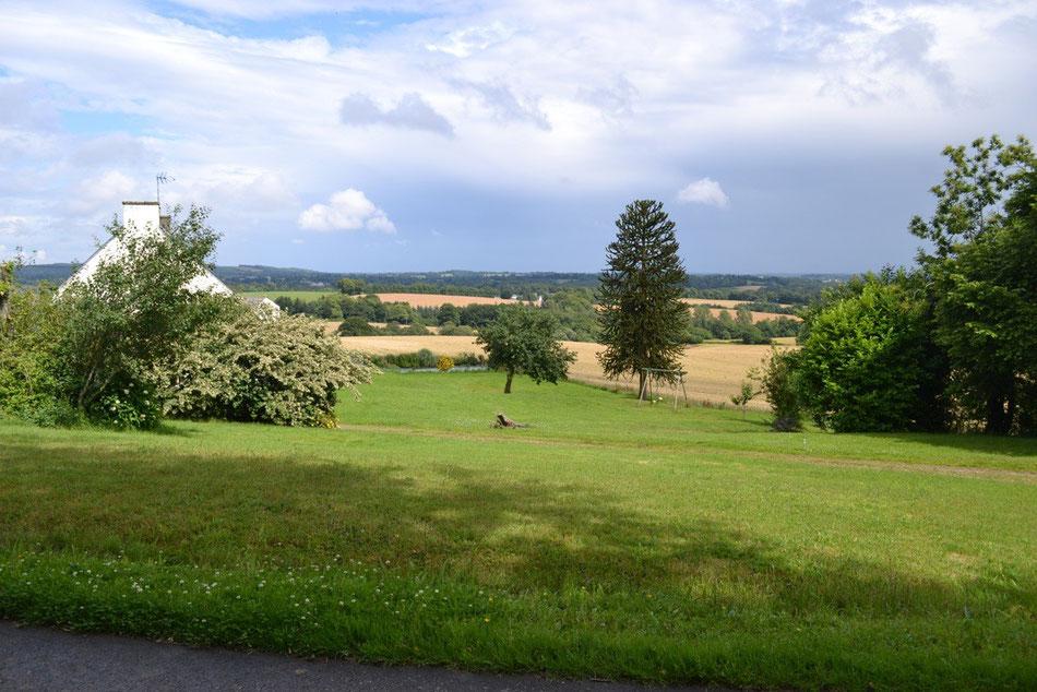La vue panoramique sur la campagne bretonne