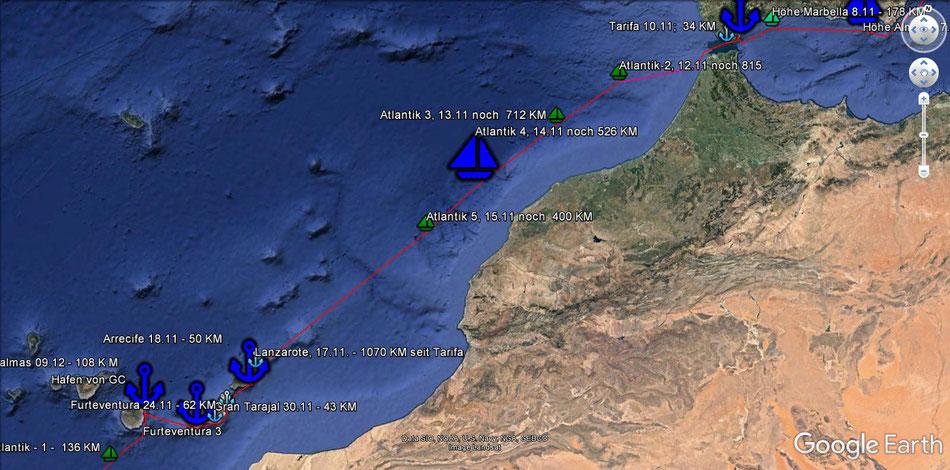 Tarifa, Lancarote, Furteventura, Gran Canaria
