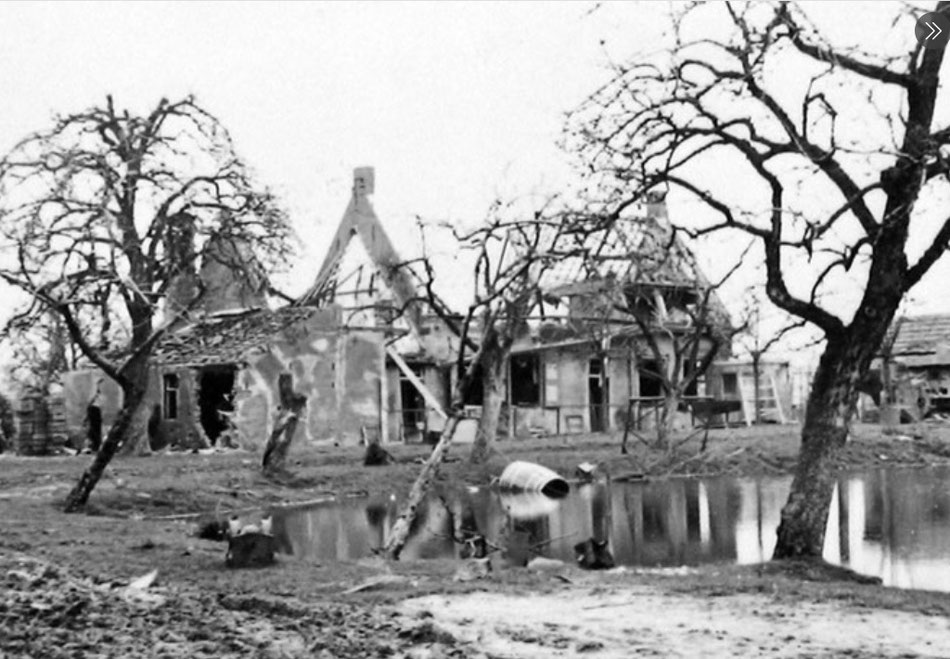 What was left of the farm after the explosion