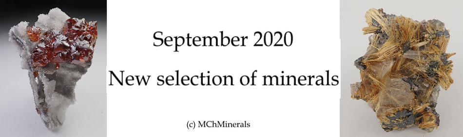 Fine minerals for sale MChMinerals