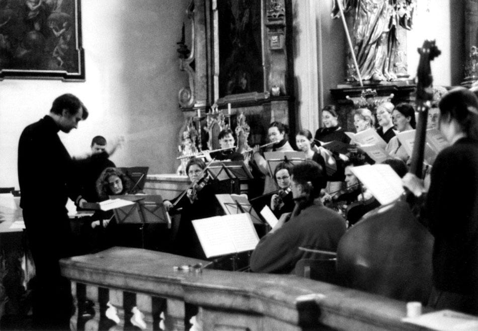 """Probe """"TE DEUM"""" St. Margaret Augsburg 2001. Ensemble MEMORIA TENERE."""