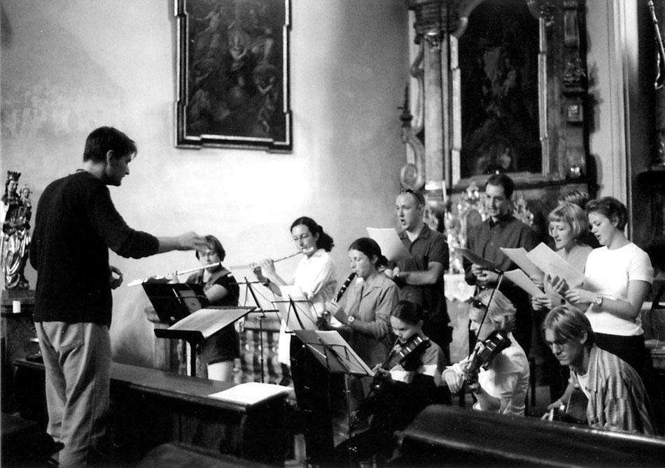 "Augsburg 2000, Probe zur ""Missa Millennium"". Ensemble MEMORIA TENERE."