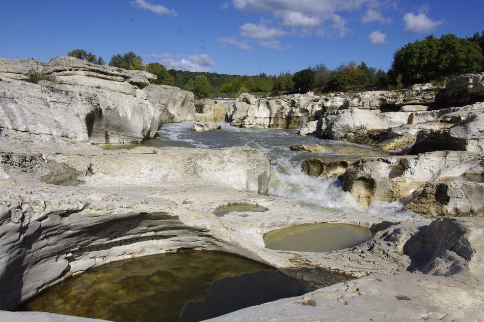 Die Sautadet Wasserfälle in la Roque-sur-Cèze