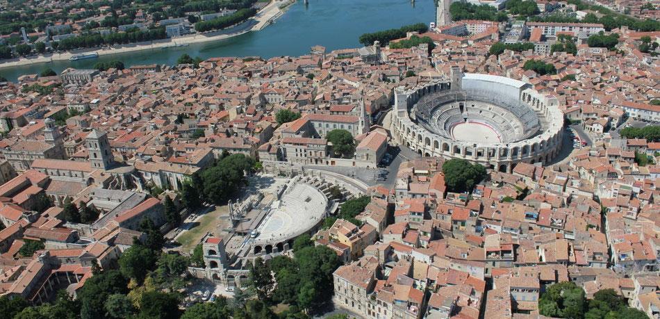 Arles située à 1 heure de route des chambres d'hôtes le clos des Sorgues