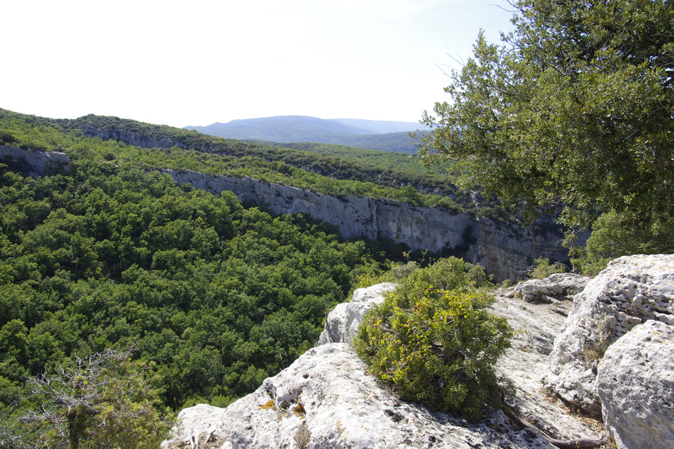 The fort of Buoux in an exceptional situation