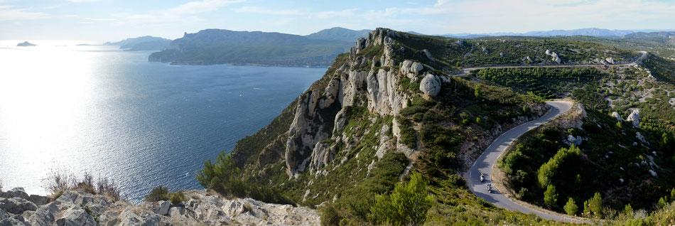 Die Höhenstraße zwischen Cassis und La Ciotat