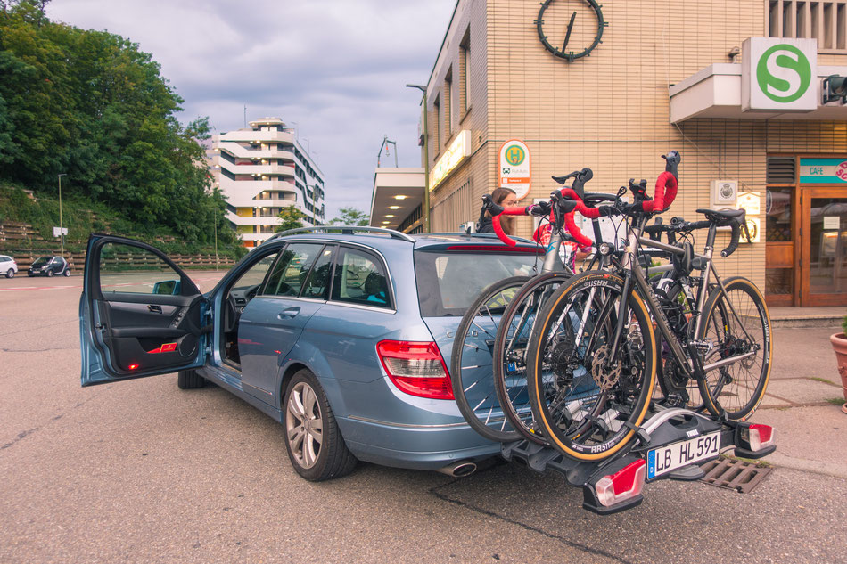 Unser Auto auf dem Weg nach Rambouillet